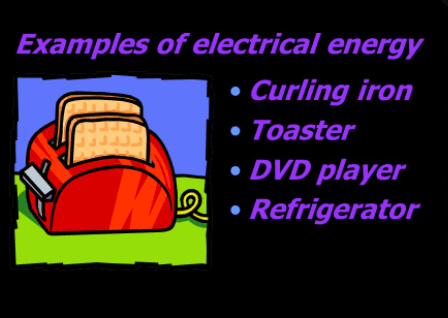 Examples of electrical energy