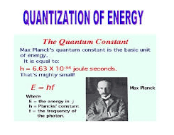 quantization of energy