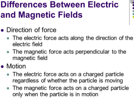 difference between electric and magnetic field