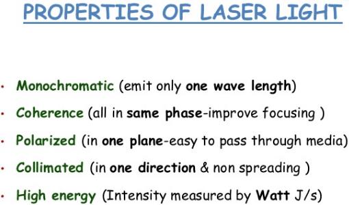 properties of laser light