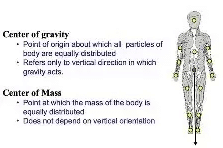 difference between centre of mass and centre of gravity