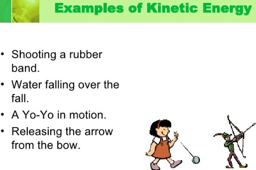 examples of kinetic energy