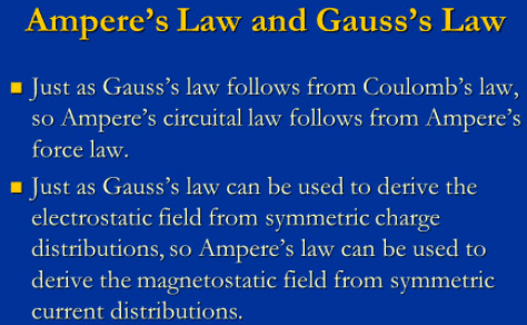 Difference between Gauss's law and Ampere's law