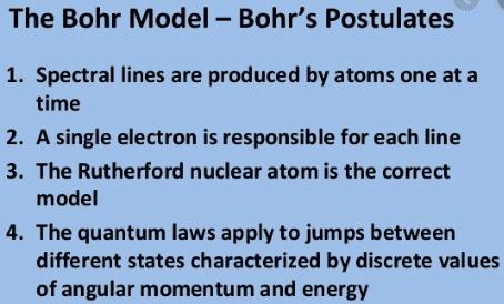 postulates of bohr atomic model