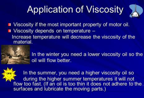 Applications of viscosity