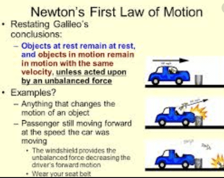 newton's first law of motion examples