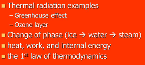 thermal radiation examples