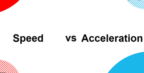 Difference between speed and acceleration