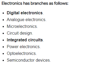 Types of electronics